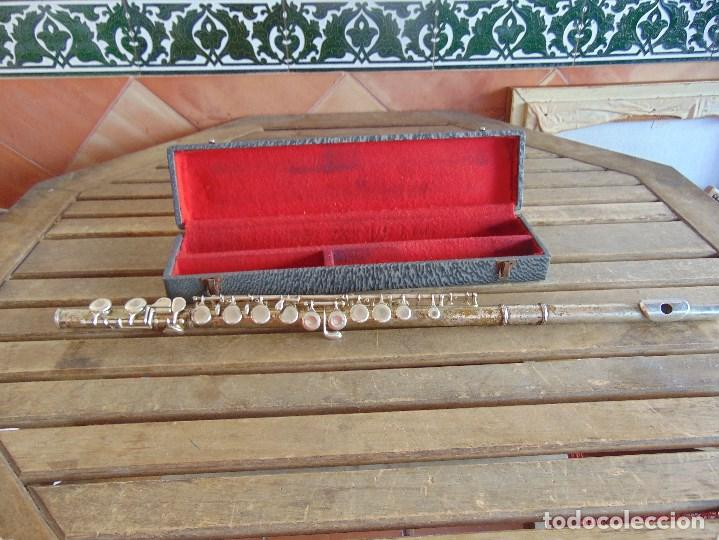 Instrumentos musicales: ANTIGUA FLAUTA TRAVESERA MARCADA ORSI MILANO EN CAJA - Foto 20 - 153945178