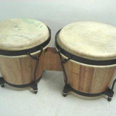 Instrumentos musicales: PAREJA TIMBALES BONGOS - MADERA PIEL - TIMBAL BONGO - AJUSTABLES. Lote 83956800