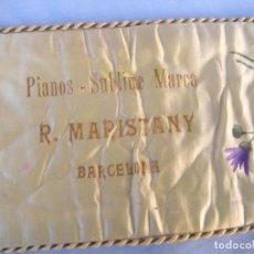 Instrumentos musicales: PIANOS SUBLIME MARCA R. MARISTANY BARCELONA, ANTIGUO CUBRETECLADO EN SEDA. Lote 85370168