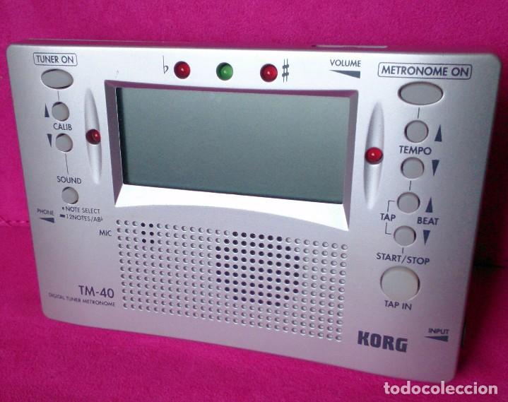 METRÓNOMO AFINADOR DIGITAL KORG TM-40 (Música - Instrumentos Musicales - Accesorios)