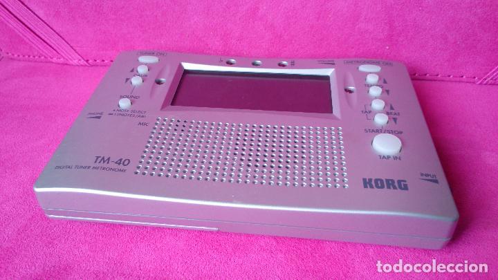 Instrumentos musicales: Metrónomo afinador digital Korg TM-40 - Foto 2 - 88892752
