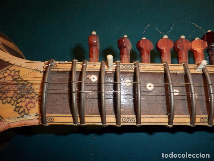 Instrumentos musicales: INSTRUMENTO DE CUERDA TIPO SITAR - VER FOTOS Y DETALLES - Foto 4 - 98480628