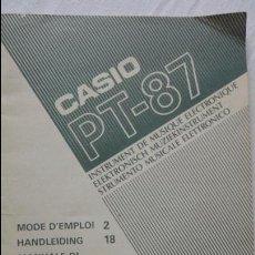 Instrumentos musicales: ANTIGUO FOLLETO.CASIO PT-87.FRANCES.ALEMAN.ITALIANO.. Lote 90827260