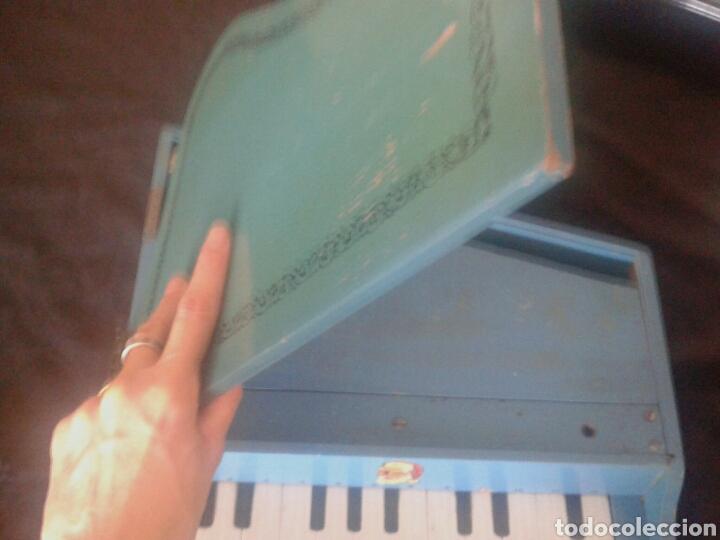 Instrumentos musicales: Antiguo piano cola juguete madera - Foto 3 - 90895982