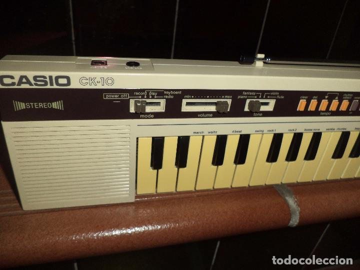 Instrumentos musicales: Teclado Stereo Casio CK 10 .Made in Japan 1980,con radio AM / FM.Keyboard vintage. - Foto 3 - 90910685