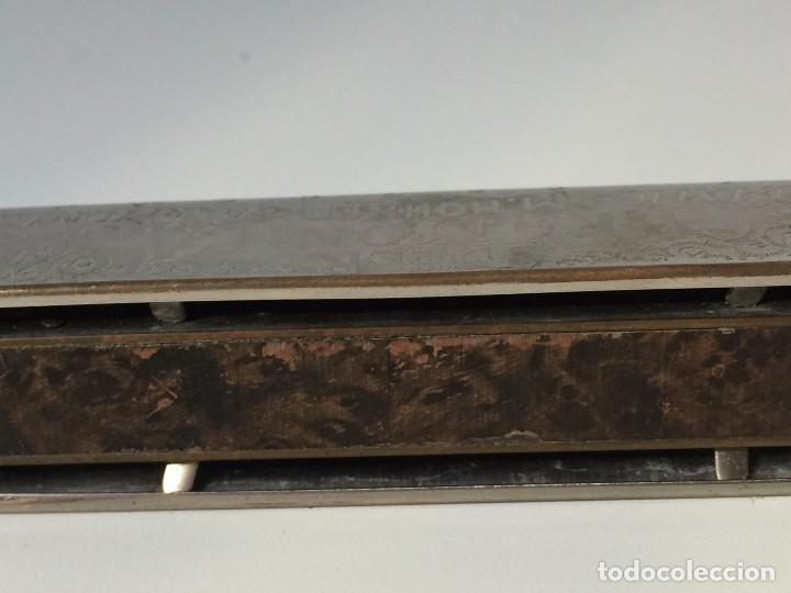 Instrumentos musicales: ANTIGUA ARMONICA THE SUPER CHROMONICA DE M. HOHMER MADE BY GERMANY - 1950S - Foto 6 - 91018445