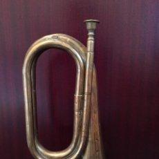 Instrumentos musicales: CORNETA ANTIGUA LATON POSIBLEMENTE MILITAR EJERCITO 28 CM. LONGITUD INSTRUMENTO MUSICAL. Lote 91650270