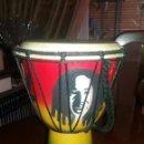 Instrumentos musicales: TIMBAL DE BOD MARLEY REALIZADO EN MADERA DE PALMERA. Lote 92841118
