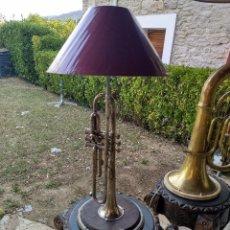 Instrumentos musicales: TROMPETA BARCELONA HECHA LÁMPARA . Lote 95556251