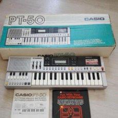 Instrumentos musicales: ORGANO PIANO TECLADO CASIO PT-50 - COMO NUEVO. Lote 98163702