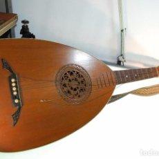 Instrumentos musicales: INTERESANTE LAUD ALEMÁN DE MADERA TALLADA - SIGLO XIX - CABEZA TALLADA EN CLAVIJERO - UNA JOYA -. Lote 96365107