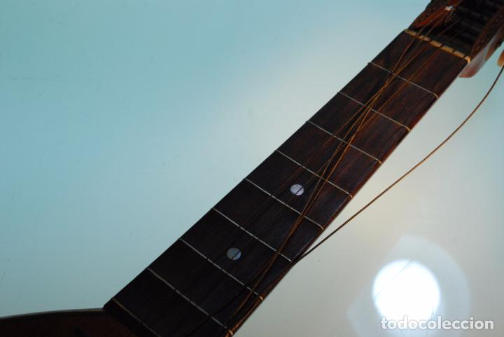 Instrumentos musicales: INTERESANTE LAUD ALEMÁN DE MADERA TALLADA - SIGLO XIX - CABEZA TALLADA EN CLAVIJERO - UNA JOYA - - Foto 5 - 96365107