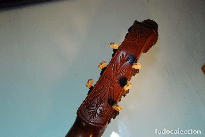 Instrumentos musicales: INTERESANTE LAUD ALEMÁN DE MADERA TALLADA - SIGLO XIX - CABEZA TALLADA EN CLAVIJERO - UNA JOYA - - Foto 12 - 96365107