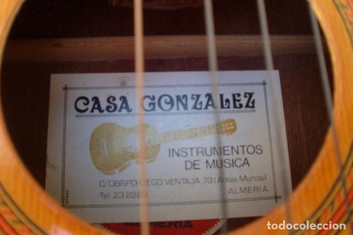 Instrumentos musicales: ALMERIA GUITARRA CASA GONZALEZ AÑOS 70- JUAN MIGUEL GONZALEZ.FOTOS ADIC - Foto 2 - 209131682