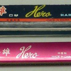 Instrumentos musicales: ARMÓNICA HERO ROSA CON SU CAJA FABRICADA EN CHINA AÑOS 60. Lote 97708827