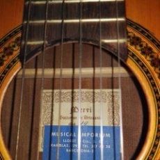 Instrumentos musicales: ESTUPENDA GUITARRA MERVI DE ANTONIO LORCA MODELO 14 AÑOS 80. Lote 98089251