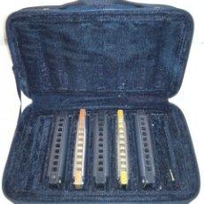 Instrumentos musicales: CINCO ARMÓNICAS HOHNER CON ESTUCHE.. Lote 99166964