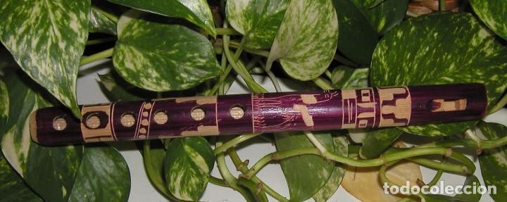 Instrumentos musicales: FLAUTA DE MADERA ARTESANAL PERUANA PERÚ REALIZADA TOTALMENTE A MANO - Foto 2 - 99252323