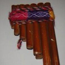 Instrumentos musicales: FLAUTA ANDINA DOBLE. DE CAÑA.. Lote 99744507