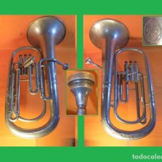 Instrumentos musicales: ANTIGUA Y HERMOSA TUBA EN BRONCE CROMADO ANSINGH MODELO SOLISTA, TUBA PROFESIONAL. Lote 115972086