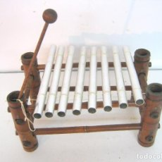 Instrumentos musicales: BELLO XILOFON EN BAMBU. Lote 100313071