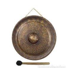 Instrumentos musicales: GONG DIÁMETRO APROX. 56CM COLOR BRONCE EN LATON ENVEJECIDO. Lote 100953919