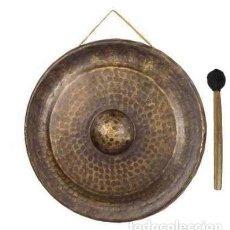 Instrumentos musicales: GONG DIÁMETRO APROX. 72CM COLOR BRONCE EN LATON ENVEJECIDO. Lote 100957231