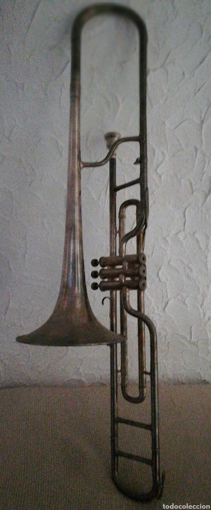 TROMBÓN DE PISTONES BESSON PARIS (Música - Instrumentos Musicales - Viento Metal)