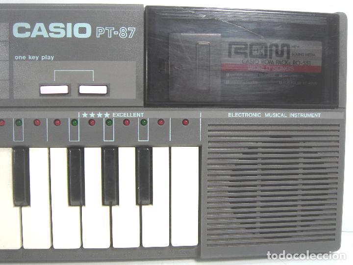 ORGANO TECLADO PIANO ELECTRONICO -CASIO PT-87 +ROM PACK RO-551- JAPAN 80S - ¡¡¡FUNCIONANDO ¡¡¡ PT87 (Música - Instrumentos Musicales - Teclados Eléctricos y Digitales)