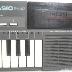 Instrumentos musicales: ORGANO TECLADO PIANO ELECTRONICO -CASIO PT-87 +ROM PACK RO-551- JAPAN 80S - ¡¡¡FUNCIONANDO ¡¡¡ PT87. Lote 101940039