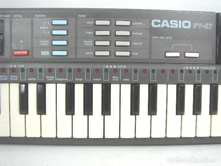 Instrumentos musicales: ORGANO TECLADO PIANO ELECTRONICO -CASIO PT-87 +ROM PACK RO-551- JAPAN 80s - ¡¡¡FUNCIONANDO ¡¡¡ PT87 - Foto 3 - 101940039