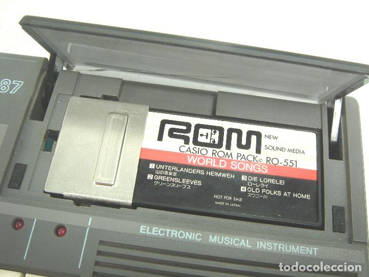 Instrumentos musicales: ORGANO TECLADO PIANO ELECTRONICO -CASIO PT-87 +ROM PACK RO-551- JAPAN 80s - ¡¡¡FUNCIONANDO ¡¡¡ PT87 - Foto 6 - 101940039