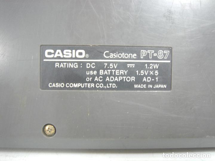 Instrumentos musicales: ORGANO TECLADO PIANO ELECTRONICO -CASIO PT-87 +ROM PACK RO-551- JAPAN 80s - ¡¡¡FUNCIONANDO ¡¡¡ PT87 - Foto 10 - 101940039