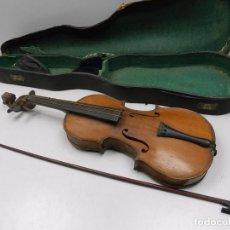 Instrumentos musicales: ANTIGUO INSTRUMENTO MUSICAL VIOLÍN CON ARCO Y ESTUCHE ORIGINAL VINTAGE. Lote 102402143