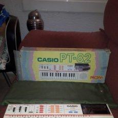 Instrumentos musicales: ORGANO CASIO PT - 82 CON CAJA Y FUNDA ORIGINAL, FUNCIONANDO. Lote 103197818