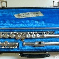 Instrumentos musicales: FLAUTA TRAVESERA EN SU ESTUCHE DE LA MARCA AMONRY. Lote 183198222