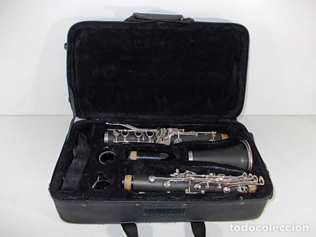 Instrumentos musicales: ANTIGUO CLARINETE EN ESTUCHE ORIGINAL - Foto 4 - 103516203