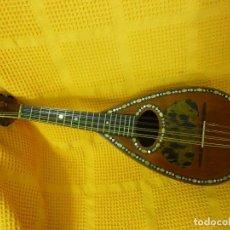 Instrumentos musicales: PRECIOSA MANDOLINA ITALIANA DE 1895,FUNDA Y ENVÍO. Lote 104063451