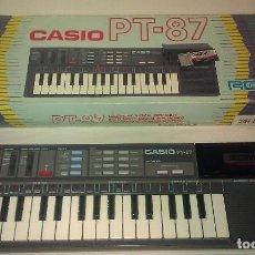 Instrumentos musicales: MÍTICO TECLADO / PIANO ELECTRÓNICO CASIO PT-87 EN CAJA Y FUNCIONANDO PERFECTAMENTE - PT87 AÑOS 80 -. Lote 104639519