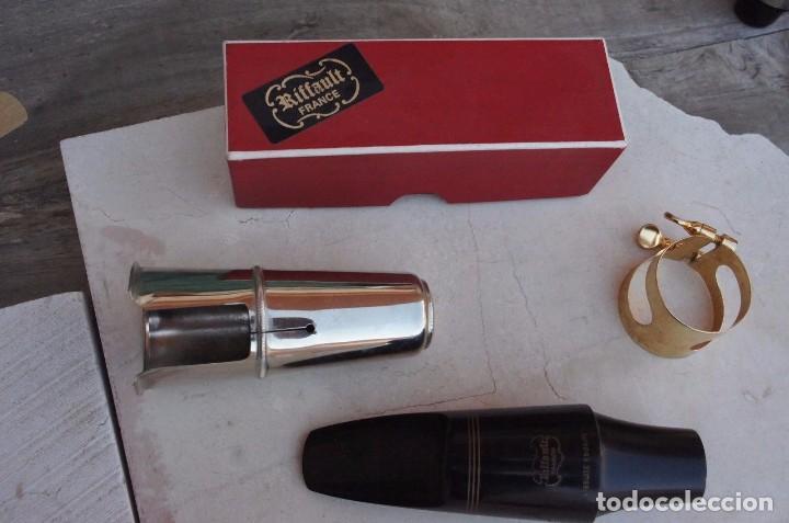 Instrumentos musicales: Boquilla de saxofón barítono Riffault.Nueva.completa. - Foto 2 - 104690347