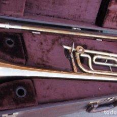 Instrumentos musicales: TROMBÓN POR H N YORK INTERNACIONAL.CON ESTUCHE.. Lote 104696155