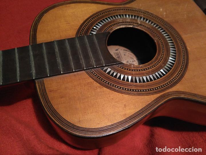 Instrumentos musicales: IMPORTANTE MAGNIFICA GUITARRA SIGLO XIX SENTCHORDI I HERMANOS PRECIO 3998 EUROS DE MUSEO FUNCIONAL - Foto 2 - 105122763