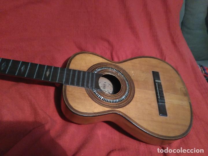 Instrumentos musicales: IMPORTANTE MAGNIFICA GUITARRA SIGLO XIX SENTCHORDI I HERMANOS PRECIO 3998 EUROS DE MUSEO FUNCIONAL - Foto 3 - 105122763