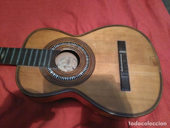 Instrumentos musicales: IMPORTANTE MAGNIFICA GUITARRA SIGLO XIX SENTCHORDI I HERMANOS PRECIO 3998 EUROS DE MUSEO FUNCIONAL - Foto 6 - 105122763