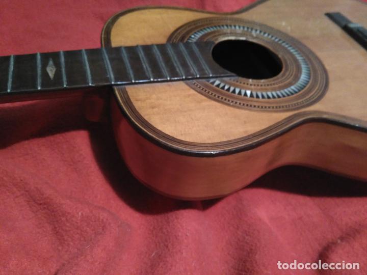 Instrumentos musicales: IMPORTANTE MAGNIFICA GUITARRA SIGLO XIX SENTCHORDI I HERMANOS PRECIO 3998 EUROS DE MUSEO FUNCIONAL - Foto 8 - 105122763