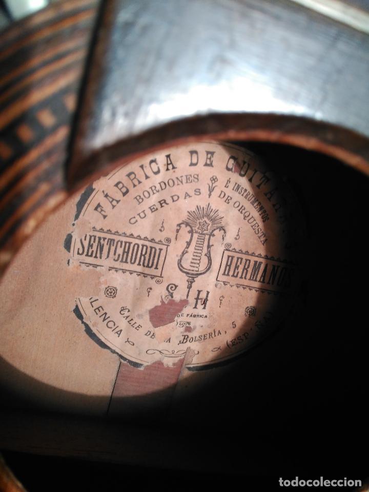 Instrumentos musicales: IMPORTANTE MAGNIFICA GUITARRA SIGLO XIX SENTCHORDI I HERMANOS PRECIO 3998 EUROS DE MUSEO FUNCIONAL - Foto 13 - 105122763