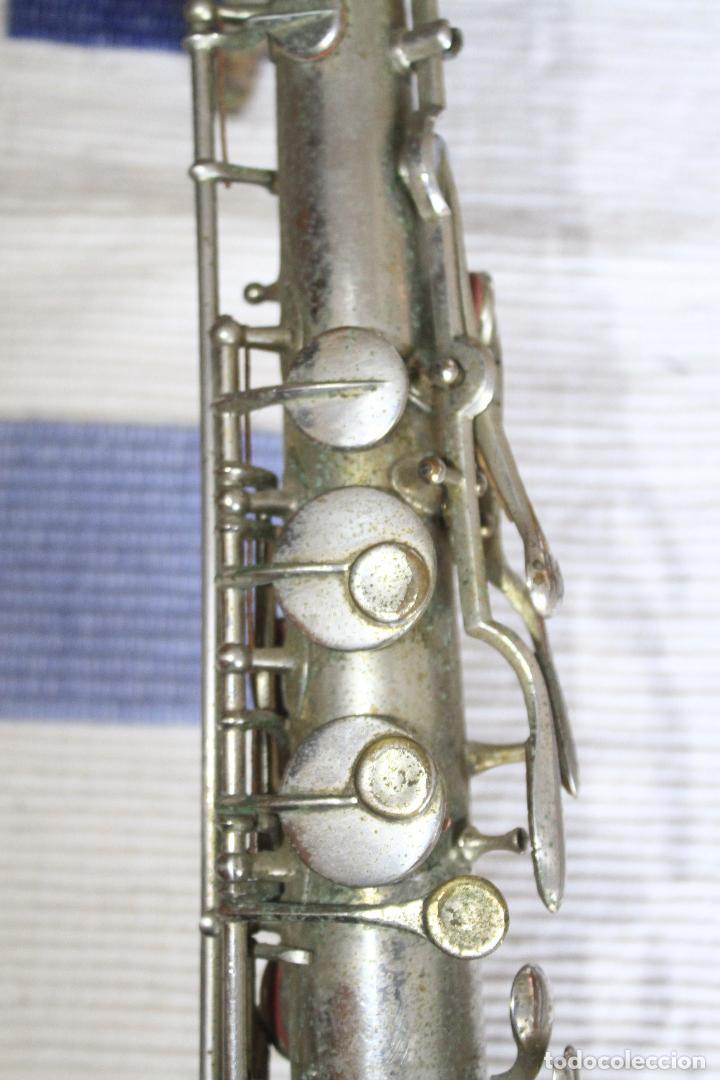 Instrumentos musicales: SAXOFON TENOR PLATEADO ROMEO ORSI MILANO SAXO HECHO EN ITALIA. - Foto 12 - 105265023
