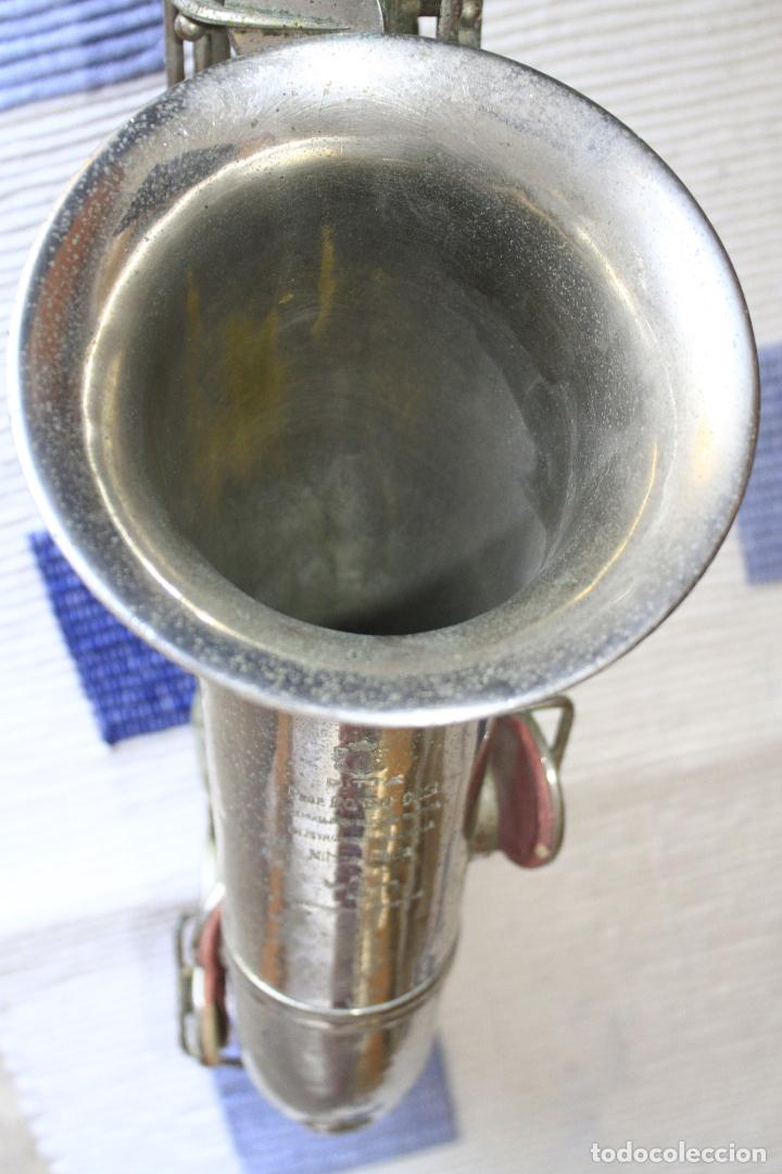 Instrumentos musicales: SAXOFON TENOR PLATEADO ROMEO ORSI MILANO SAXO HECHO EN ITALIA. - Foto 16 - 105265023
