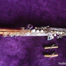 Instrumentos musicales: SAXOFON SOPRANO VENUS. Lote 107007071
