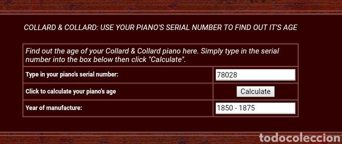 Instrumentos musicales: Piano Collard & Collard de mediados del siglo XIX - Foto 6 - 107631420